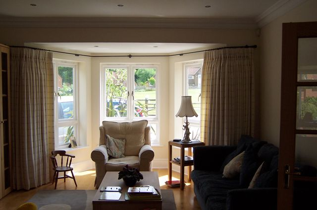 Home in Hampshire with ccurtains installed by our team
