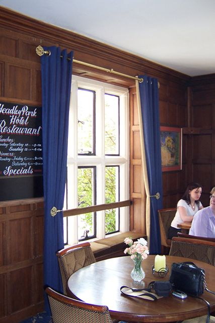 Curtains installed in a pub in Hampshire